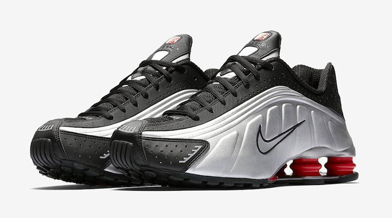 Nike Shox R4 OG ''Black/Metallic Silver/Max Orange''