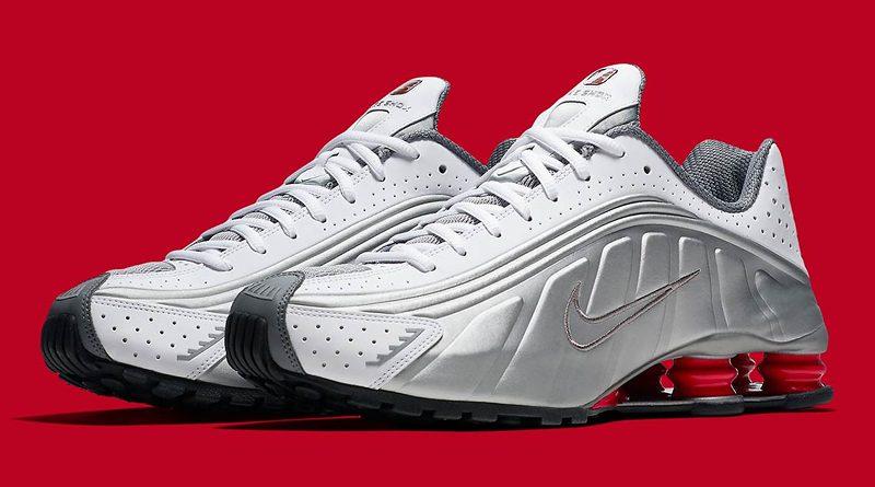 Nike Shox R4 OG ''White/Metallic Silver/Comet Red''