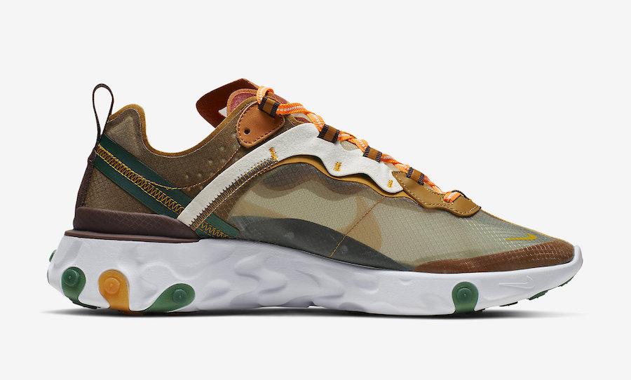 Nike React Element 87 ''Orange Peel'' Sneaker Style