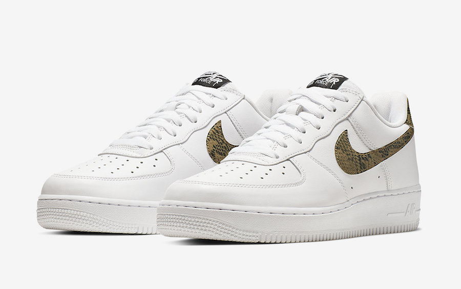 Nike Air Force 1 Low ''Ivory Snake'' Sneaker Style