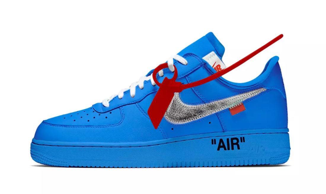 nike air force 1 jaune bleu
