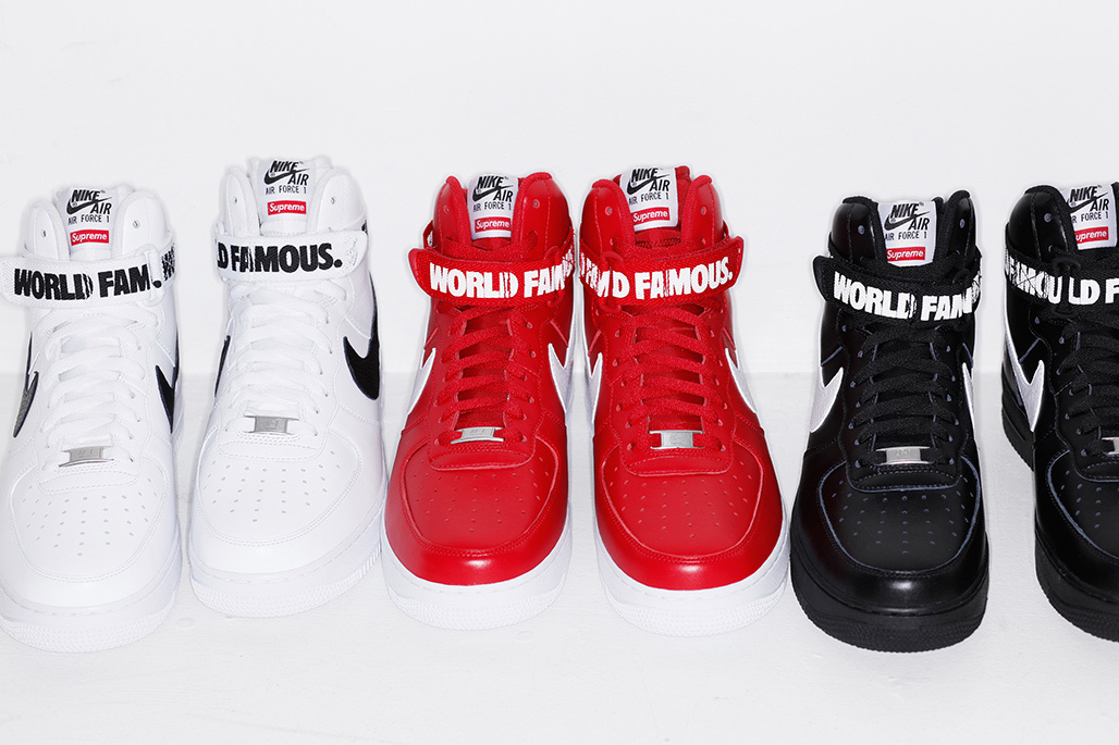 SUPREME x Nike Air Force 1 High ''World Famous''