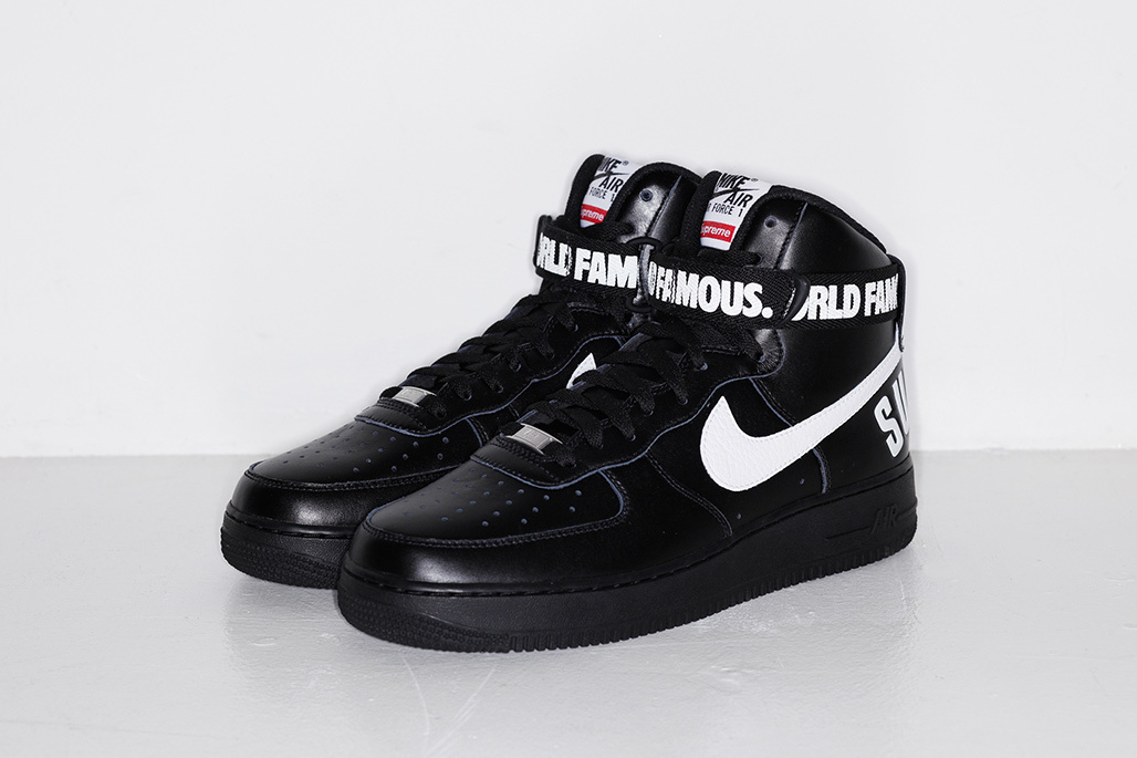 SUPREME x Nike Air Force 1 High ''World Famous'' - Black