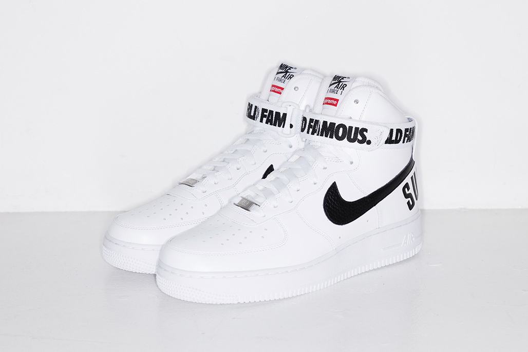 SUPREME x Nike Air Force 1 High ''World Famous'' - White