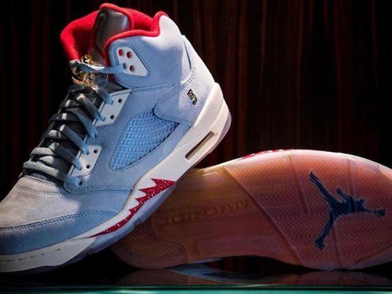 Trophy Room x Air Jordan 5 ''Ice Blue''