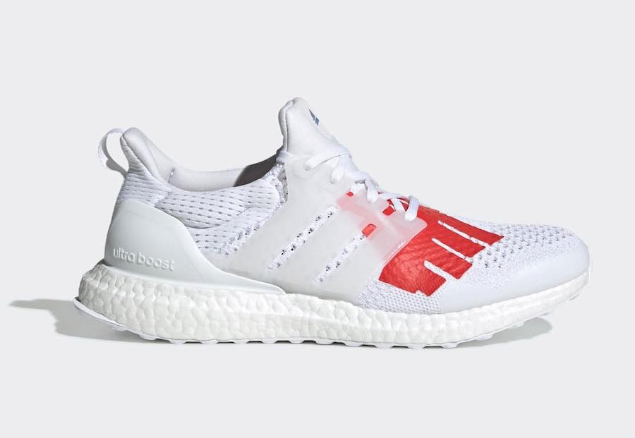 Undefeated x adidas Ultraboost ''WhiteRed Blue'' Sneaker