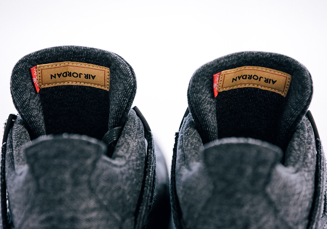 Levi's x Air Jordan 4 ''Black''