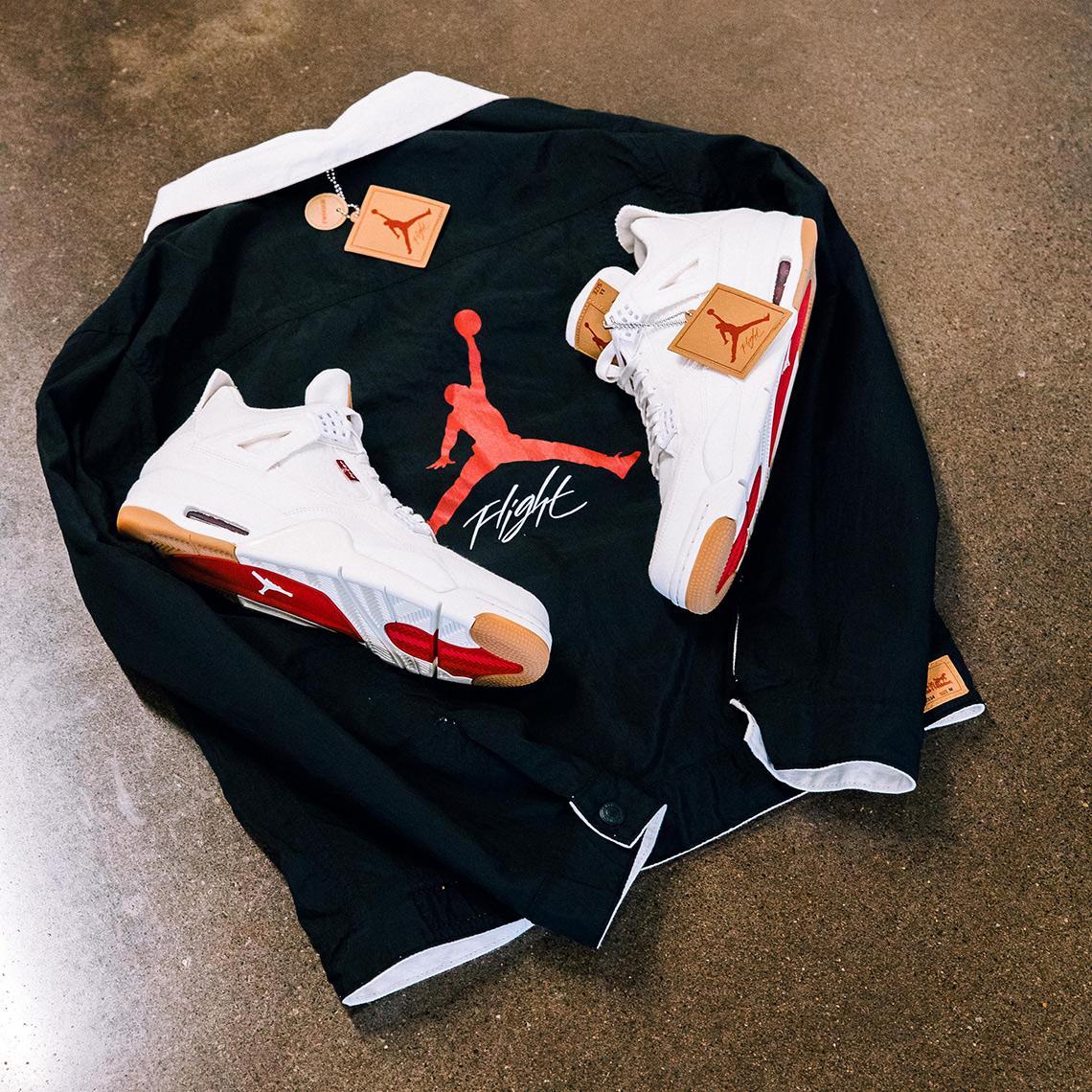 Levi's x Air Jordan 4 ''White''
