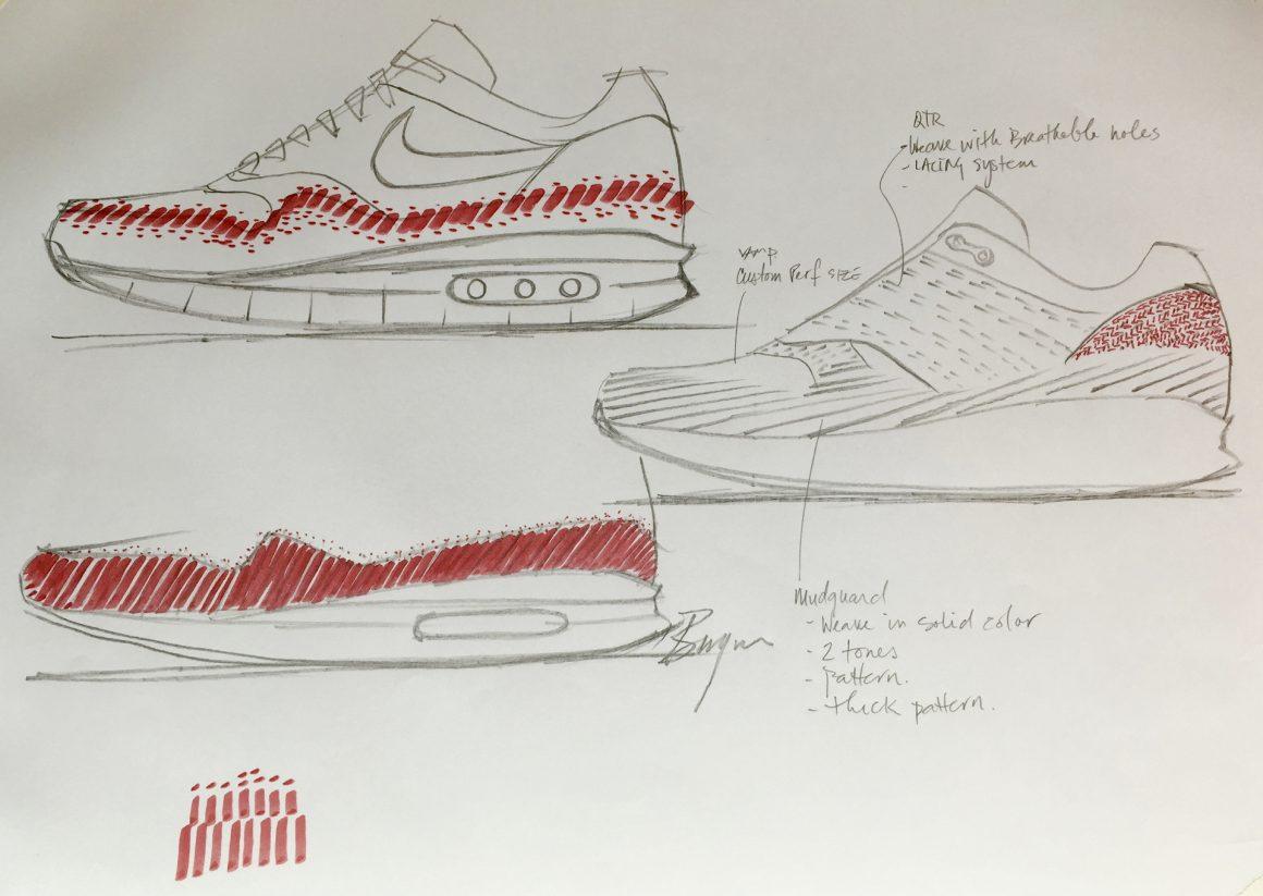 Croquis de la Nike Air Max 1