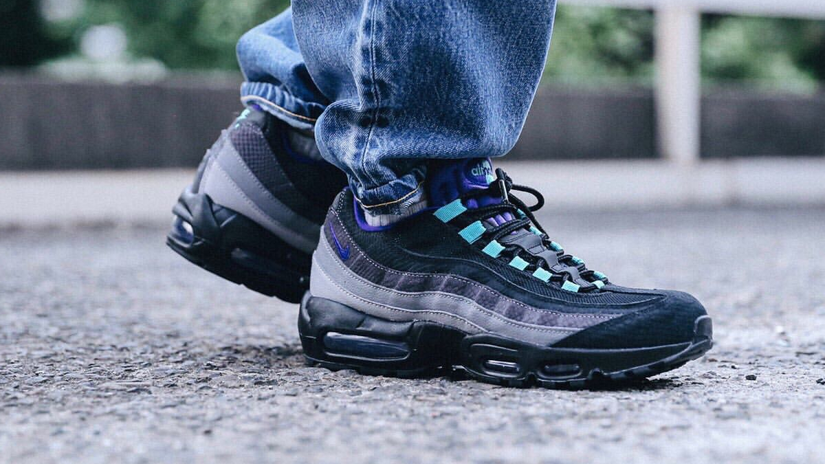 order reasonable price official site Nike Air Max 95 ''Black Grape'' - Sneaker Style
