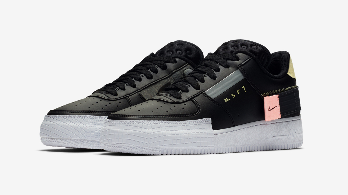 Nike Air Force 1 Low ''Type'' ''BlackAnthracite'' Sneaker