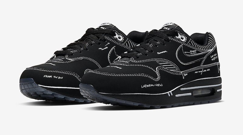 Nike Air Max 1 Tinker ''Schematic'' Black Sneaker Style