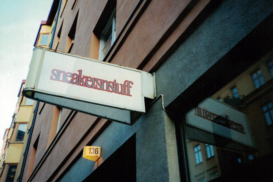 La première boutique Sneakersnstuff à Stockholm en 1999