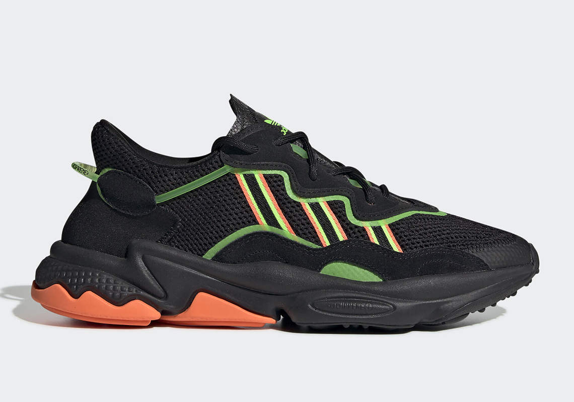 adidas Ozweego ''Black/Orange/Green''