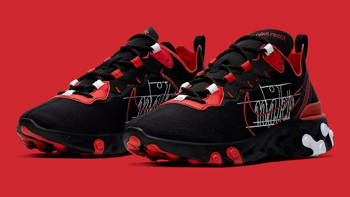 Nike React Element 55 ''Script Swoosh'' Sneaker Style