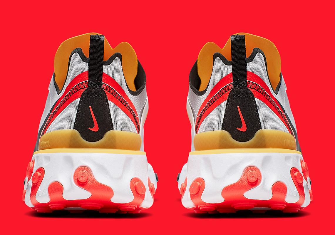 Nike React Element 55 ''White/Black-Bright Crimson''
