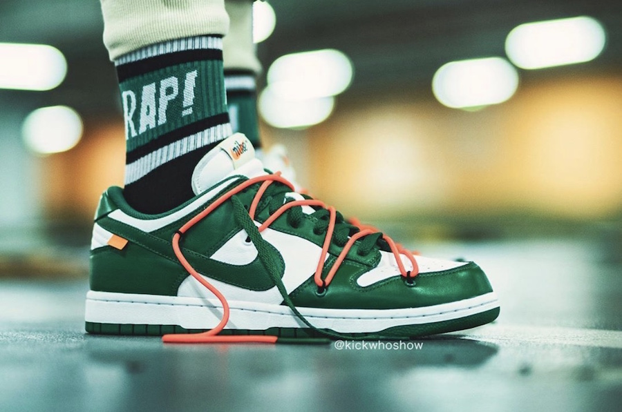 Off-White x Nike Dunk Low ''Pine Green''