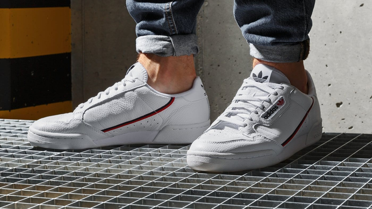 adidas Continental 80 ''Cloud White/Scarlet/Collegiate Navy ...