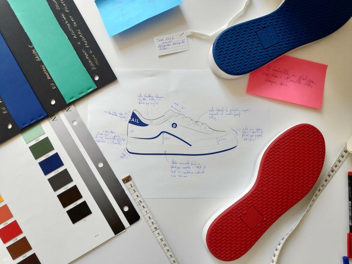 Le design des baskets Corail