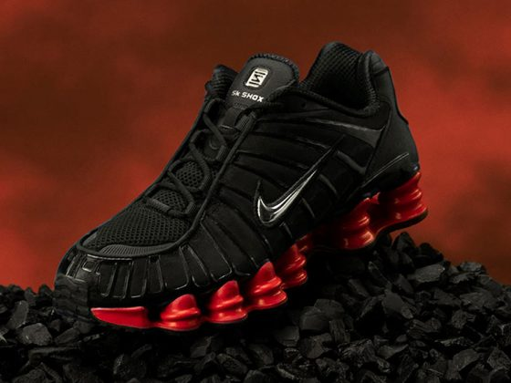 Skepta x Nike Shox TL ''Black/Red''