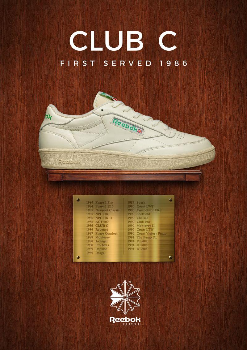 Reebok Club C - First Served 1986