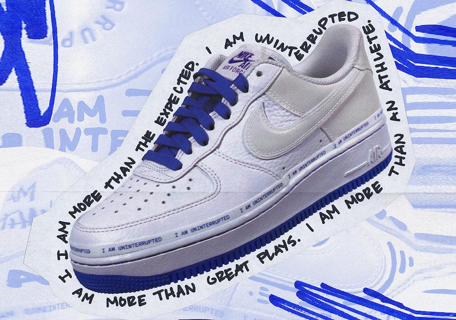 Uninterrupted x Nike Air Force 1 Low ''MTAA'' Sneaker Style