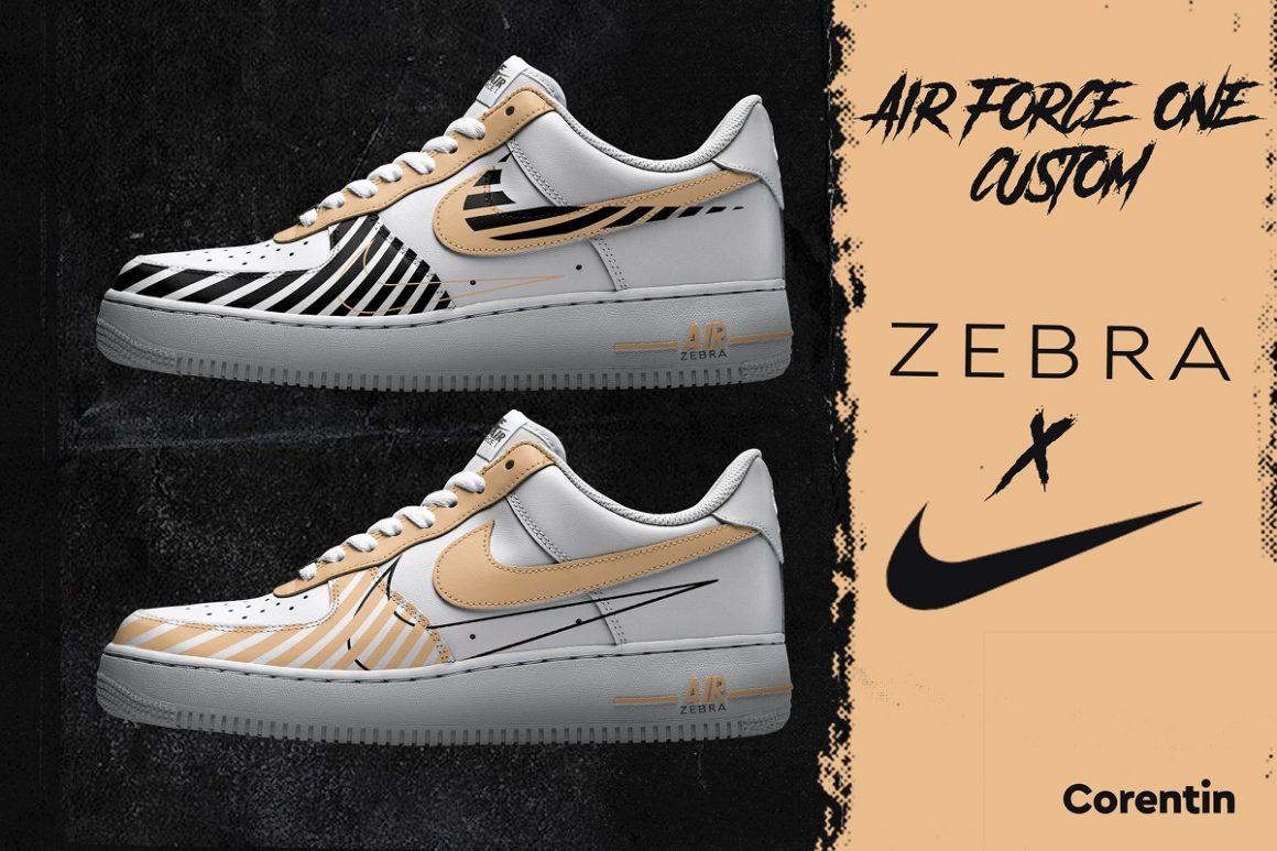 Corentin x Nike Air Force 1 ''Zebra''