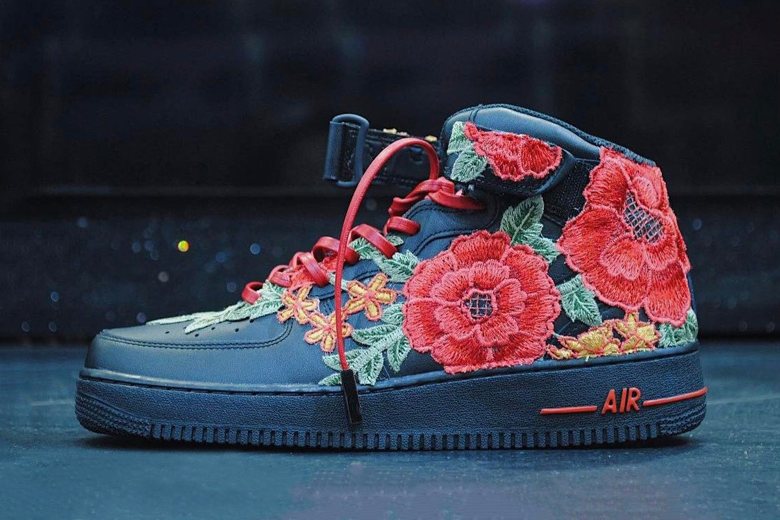 FRE Customs x Nike Air Force 1 High ''Flowerbomb''