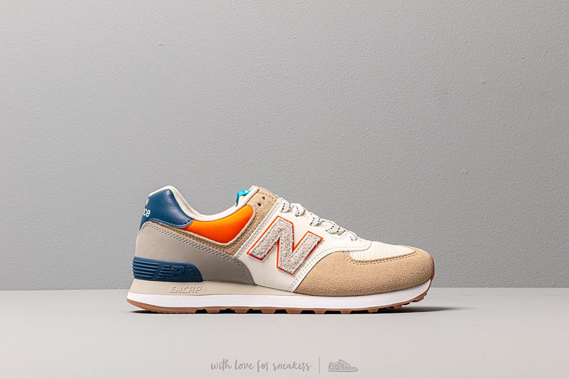 basket new balance bleu et orange