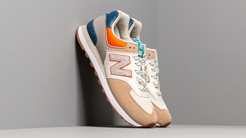 New Balance 574 ''Beige/Bleu/Orange''