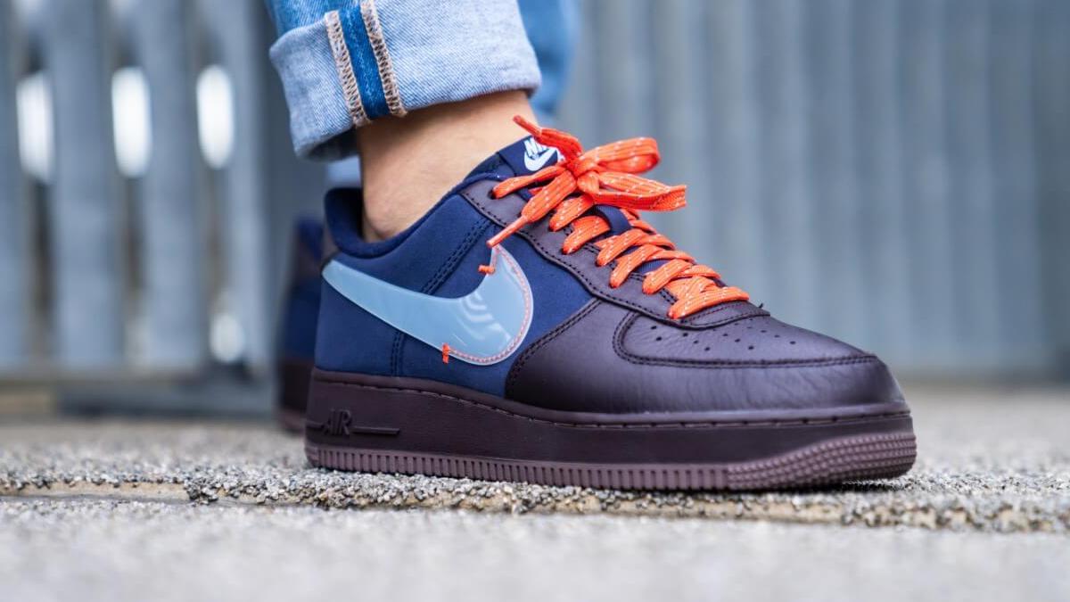 Nike Air Force 1 PRM ''Burgundy Ash'' Sneaker Style