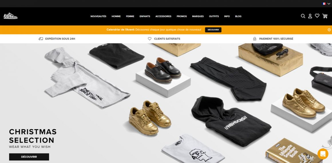 La dernière version du site footshop.fr