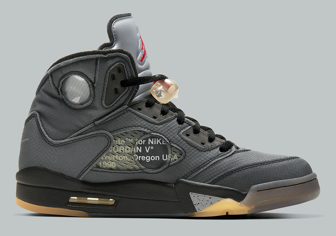 Off-White x Air Jordan 5 ''Black Muslin''