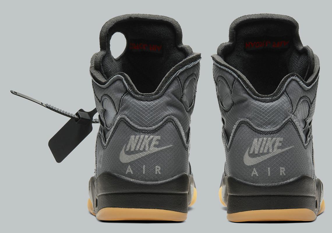 Off-White x Air Jordan 5 ''Black Muslin''