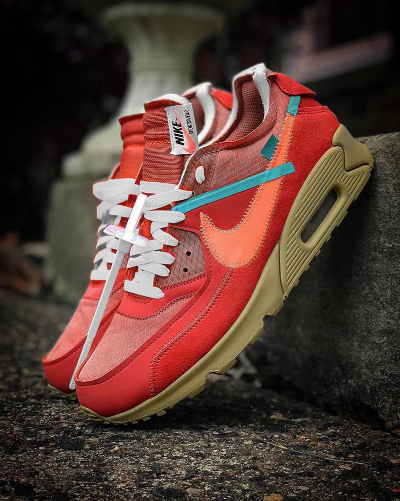 Off-White x Nike Air Max 90 ''University Red''