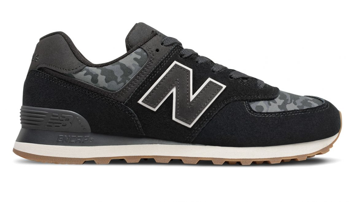 New Balance 574 ''Camo'' - Black with Moonbeam