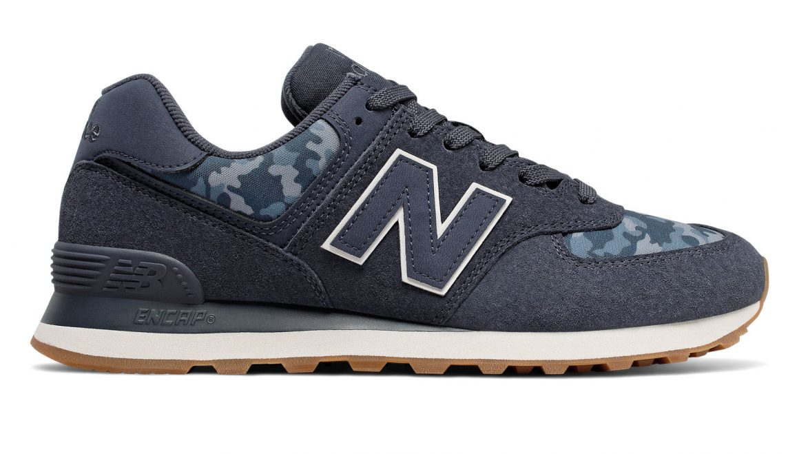 New Balance 574 ''Camo'' - Navy with Moonbeam