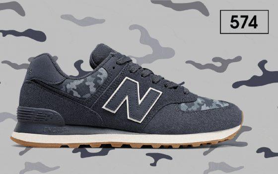 New Balance 574 ''Camo'' - Navy with Moonbeam