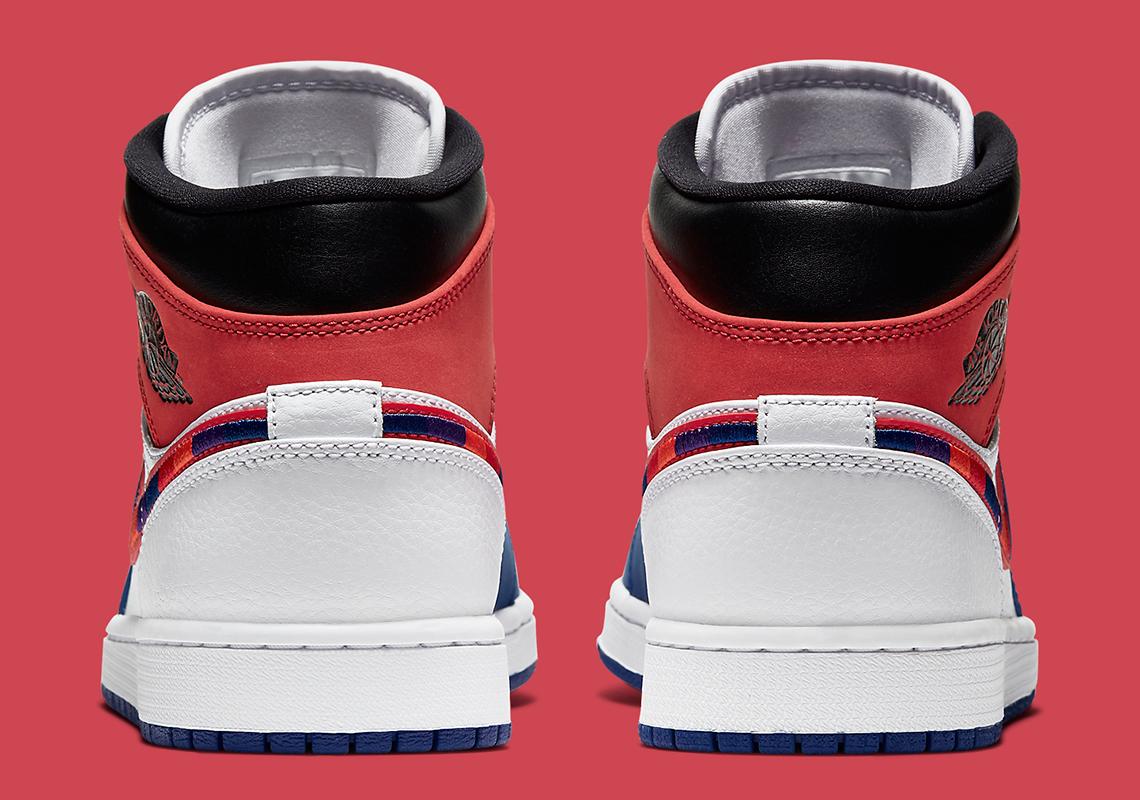 Air Jordan 1 Mid SE ''Multicolor Swoosh'' - 852542-146
