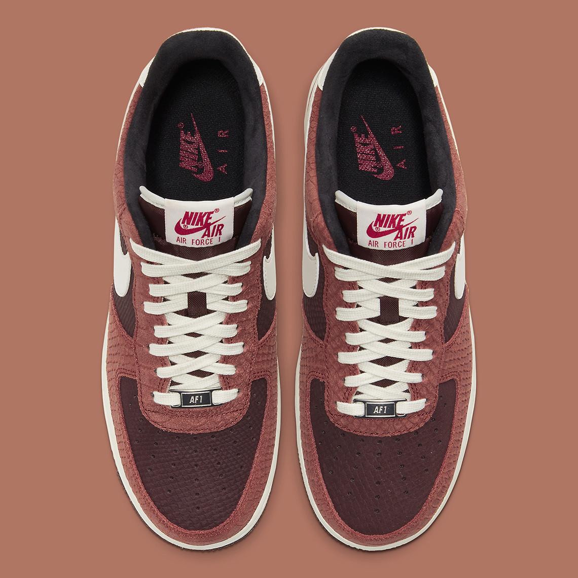 Nike Air Force 1 PRM ''Red Bark'' - CV5567-200
