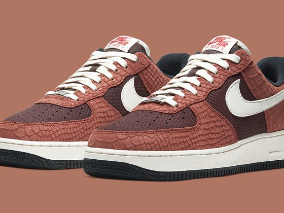 Nike Air Force 1 PRM ''Red Bark'' - CV5567-200