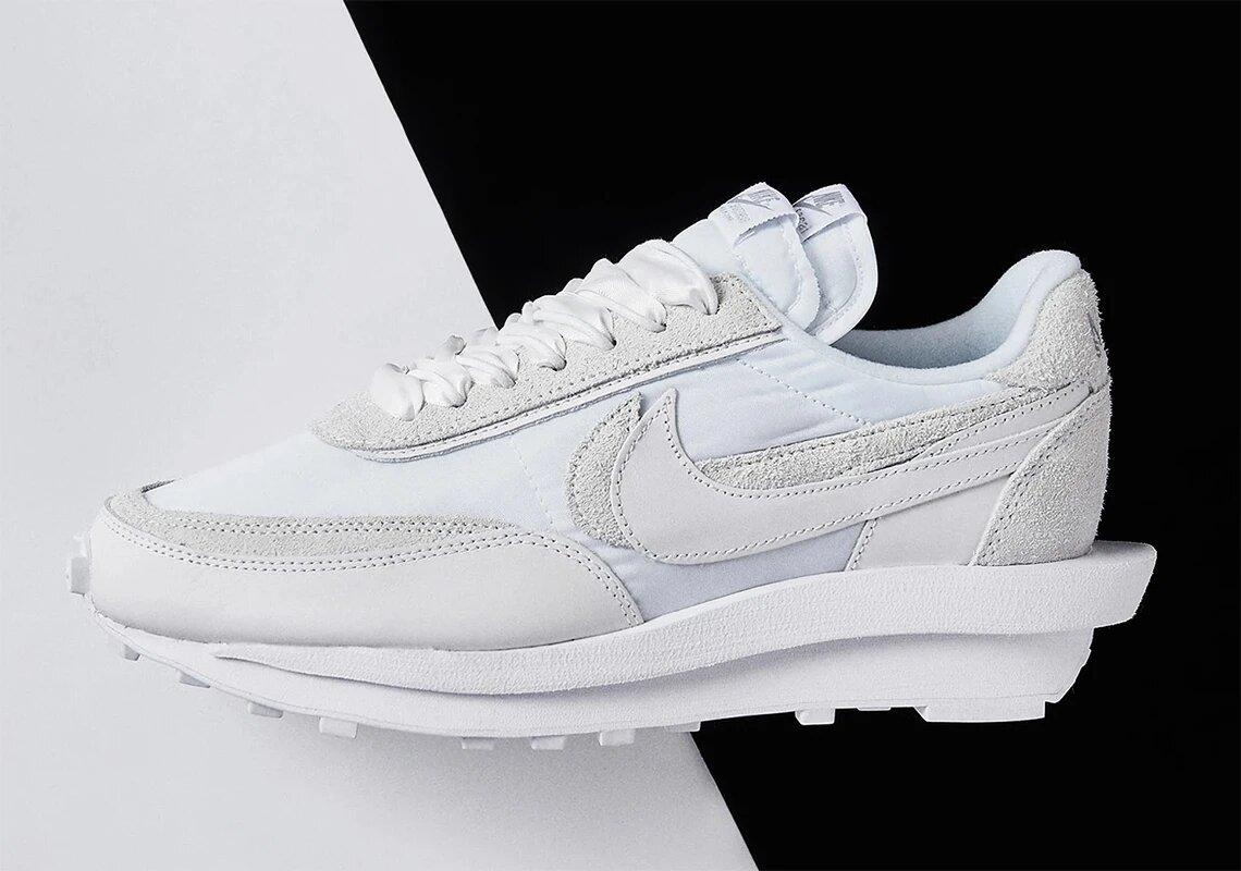 Sacai x Nike LDWaffle - White Nylon
