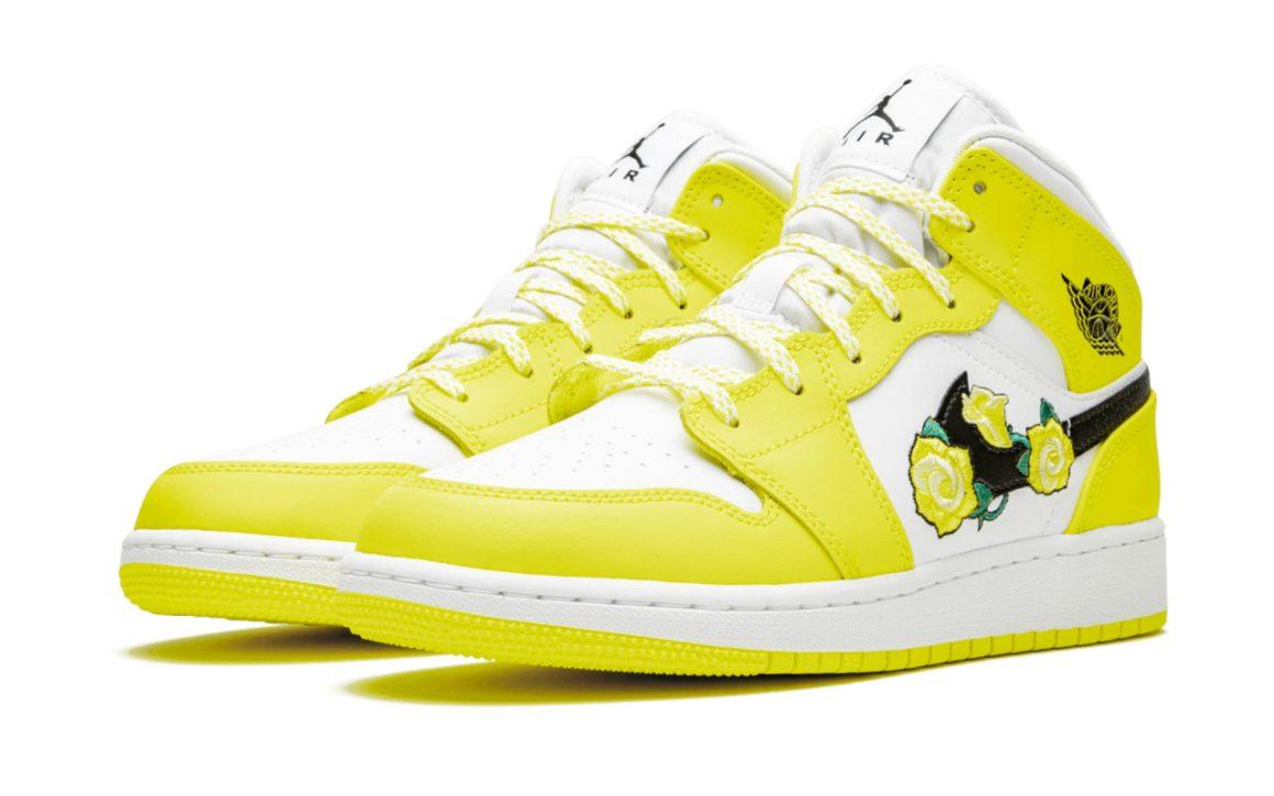 Air Jordan 1 Mid ''Dynamic Yellow''/''Floral'' - AV5174-700 ...
