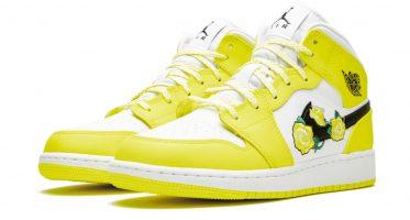 Air Jordan1 Mid ''Dynamic Yellow''/''Floral''