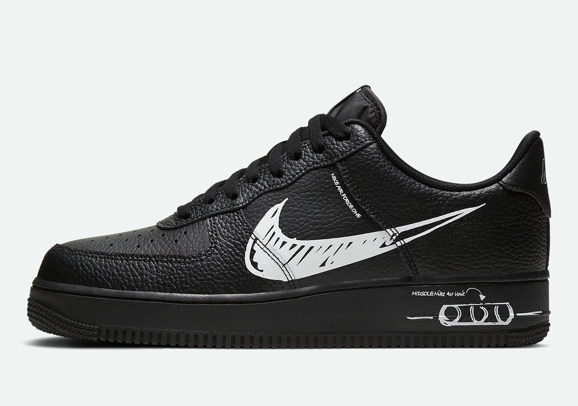 Nike Air Force 1 Low LV8 Utility ''Sketch'' - Black