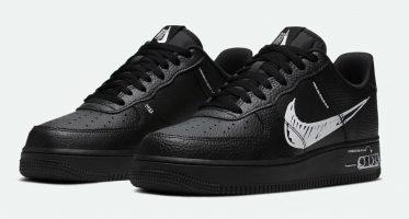 NikeAir Force 1 ''Sketch'' - Black