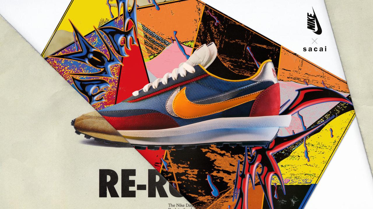 Sacai x Nike LD Waffle ''Blue/Multi'' - Daybreak Pack - BV0073-400
