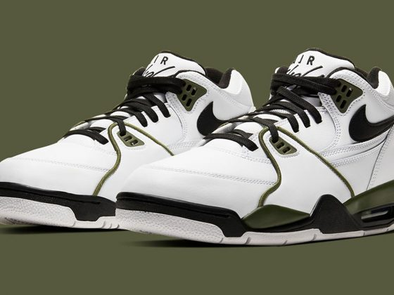 Nike Air Flight 89 - White/Medium Olive/Black - CJ5390-101