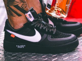 Off-WhiteNike Air Force 1 ''Black''