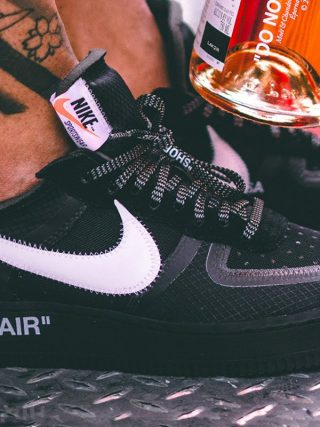 Off-White x Nike Air Force 1 ''Black'' - AO4606-001
